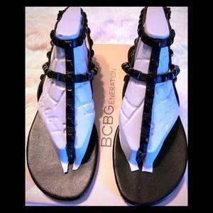 BCBG Studded Gladiator sandals